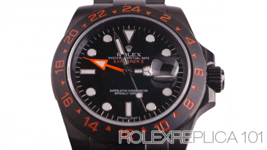 High quality fake Rolex Explorer II PVD watches online sale