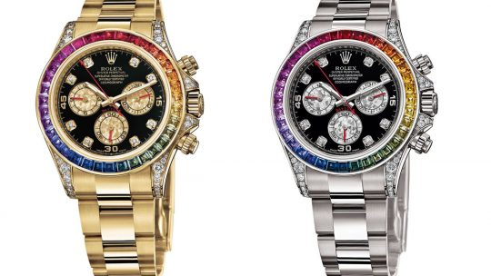 Spectacular Rolex Daytona Rainbow Everose Gold Replica Watches